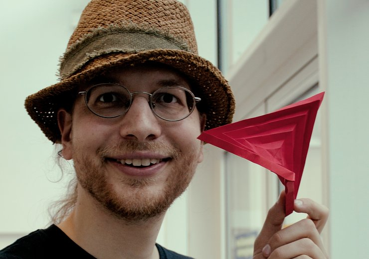 Erik Demaine is enthusiastic about Origami folding techniques and the algorithms behind it.